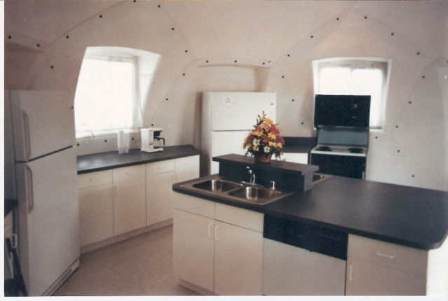 Tiny house with kitchen unit from InterShelter Inc.