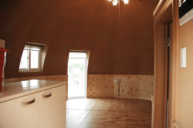 Interiors of tiny house or safety shelter from InterShelter Inc.