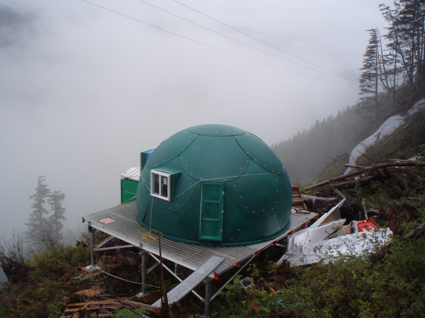 Green, safe, comfortable, fireproof safety shelter dome from InterShelter Inc
