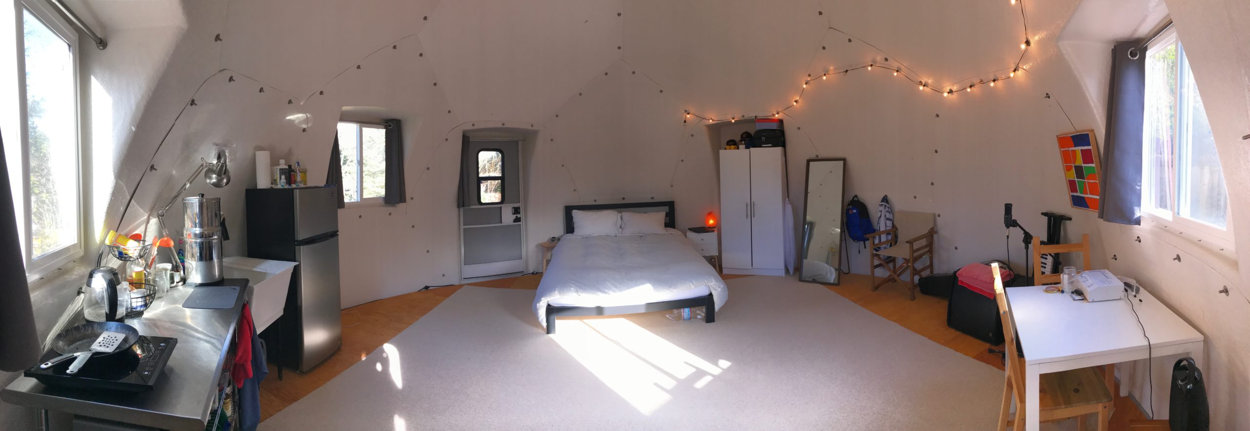 Decorated and furnished tiny house or safety shelter from InterShelter Inc